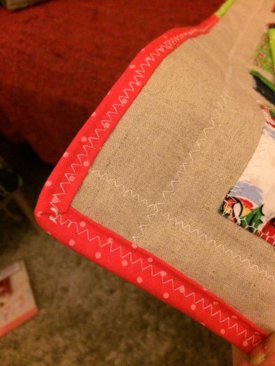 quilt binding on calendar